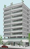 3D Model and 3D architectural rendering - Condominium building
