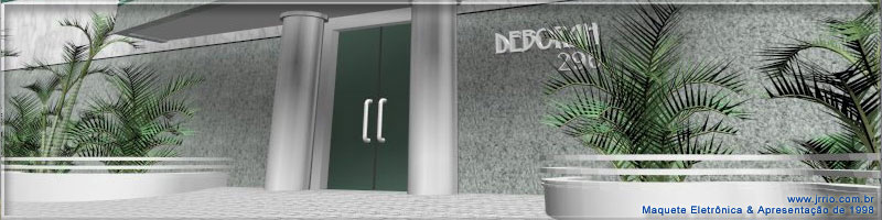 Block of flats entrance to concierge | Architectural rendering
