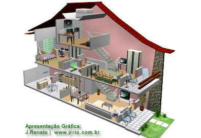3d House Cutaway Drawing | 3d Section