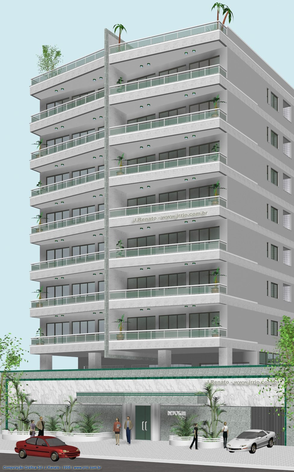 Apartment Building - 3D Architectural Model and Rendering