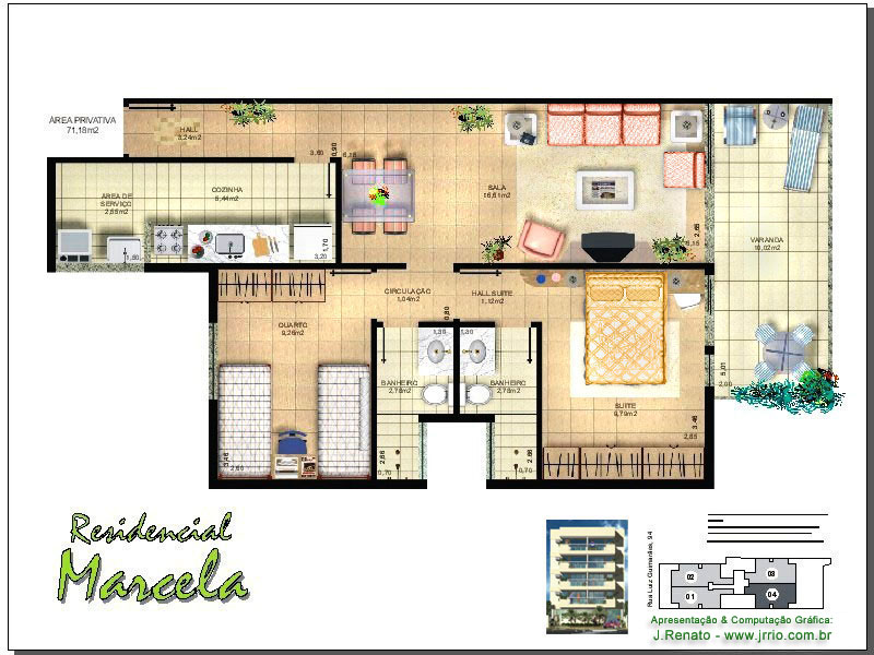 Floor plan presentation drawing for Floor plans presentation