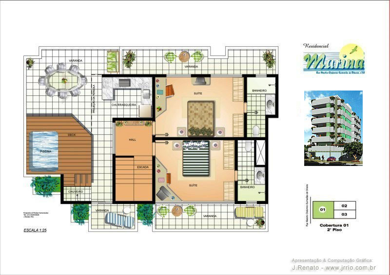 Floor plan renderings 3d floor plan for Rendered floor plan