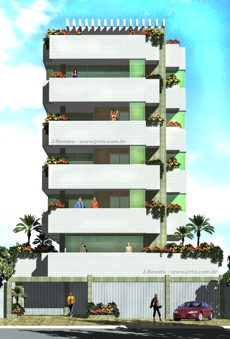 Apartment building architectural presentation - Large image