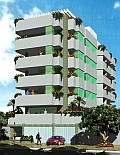 Condominium and Apartment Building - 3D Rendering