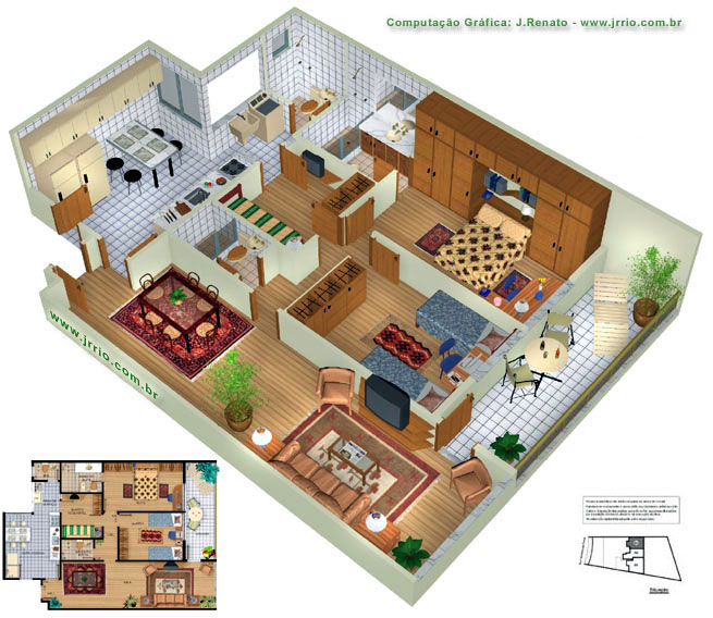 About the 3D Floor Plans and Flat Floor Plan Renderings: